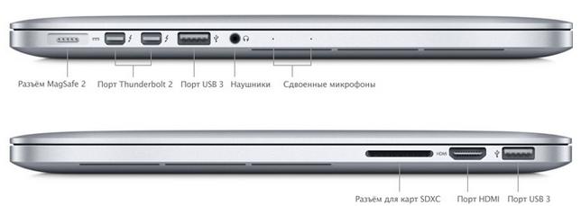MacBook Pro 13 2015 разъёмы