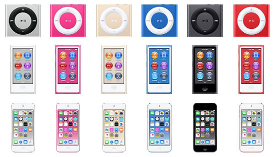 Новые iPod touch, nano, shuffle 2015